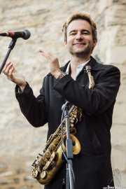 Adrian Cunningham, clarinetista-saxofonista de Doc Scanlon's Hot 4, Gastroswing - Machete, 2014