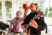 Peter Davis y Stéphane Séva, de Doc Scanlon's Hot 4, Gastroswing - Palacio Europa, 2014