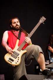 Imanol Espino, bajista de 13 Left to die, Azkena Rock Festival, 2014