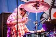 Dan Magnusson, baterista de Seasick Steve, Azkena Rock Festival, 2014