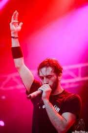 Omar Gallego, cantante de The Midnight Travellers, Azkena Rock Festival, 2014