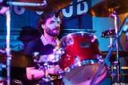 Johannes Ziegler, baterista de Those Radios, Mojo Club, 2014