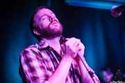 Dustin Arbuckle -cantante y armonicista-, de Moreland & Arbuckle, Kafe Antzokia, Bilbao. 2014