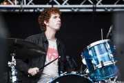 Max Savage, baterista de Parquet Courts, Bilbao BBK Live, 2014