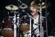 Nigel Powell, baterista de Frank Turner & The Sleeping Souls, Bilbao BBK Live, 2014