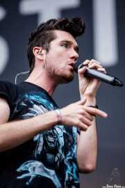 Dan Smith , cantante de Bastille, Bilbao BBK Live, 2014