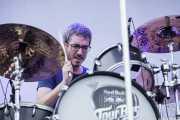 Eduard Montes, baterista de IEPI, Bilbao BBK Live, 2014