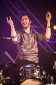 Alejandro Jordá, baterista de Izal, Bilbao BBK Live, 2014