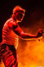 Keith Flint, cantante de The Prodigy, Bilbao BBK Live, 2014