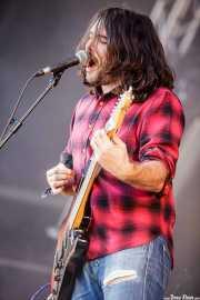 Alex Gallardo, guitarrista y cantante de The Rebels, Bilbao BBK Live, 2014