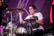 Gonzalo, baterista de The Rebels, Bilbao BBK Live, 2014