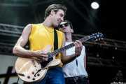 "Dano -guitarrista- y Michael Ian Cummings ""MIC -cantante-, de Skaters, Bilbao BBK Live, 2014"