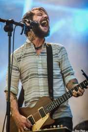 Ben Bridwell, guitarrista, cantante y lap steel de Band of Horses, Bilbao BBK Live, 2014