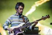 Matt Asti, bajista de MGMT, Bilbao BBK Live, 2014