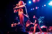 Steve Soto -bajista-, Tony Reflex -cantante-, Joe Harrison y Dan Root-guitarristas- y Mike Cambra -baterista- de Adolescents, Kafe Antzokia, 2014