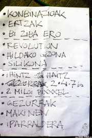Setlist de Inoren ero ni, Kafe Antzokia, 2014