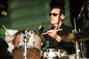 Stephen Keogh, baterista de René Marie Quartet, Donostiako Jazzaldia - Zurriola, 2014
