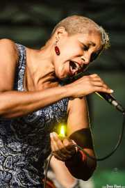 René Marie, cantante de René Marie Quartet, Donostiako Jazzaldia - Zurriola, 2014
