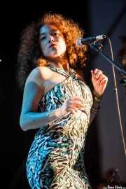 Kendra Foster, cantante de George Clinton's Parliament Funkadelic, Donostiako Jazzaldia - Zurriola, 2014
