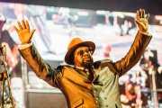 George Clinton, cantante y director de George Clinton's Parliament Funkadelic, Donostiako Jazzaldia - Zurriola, 2014
