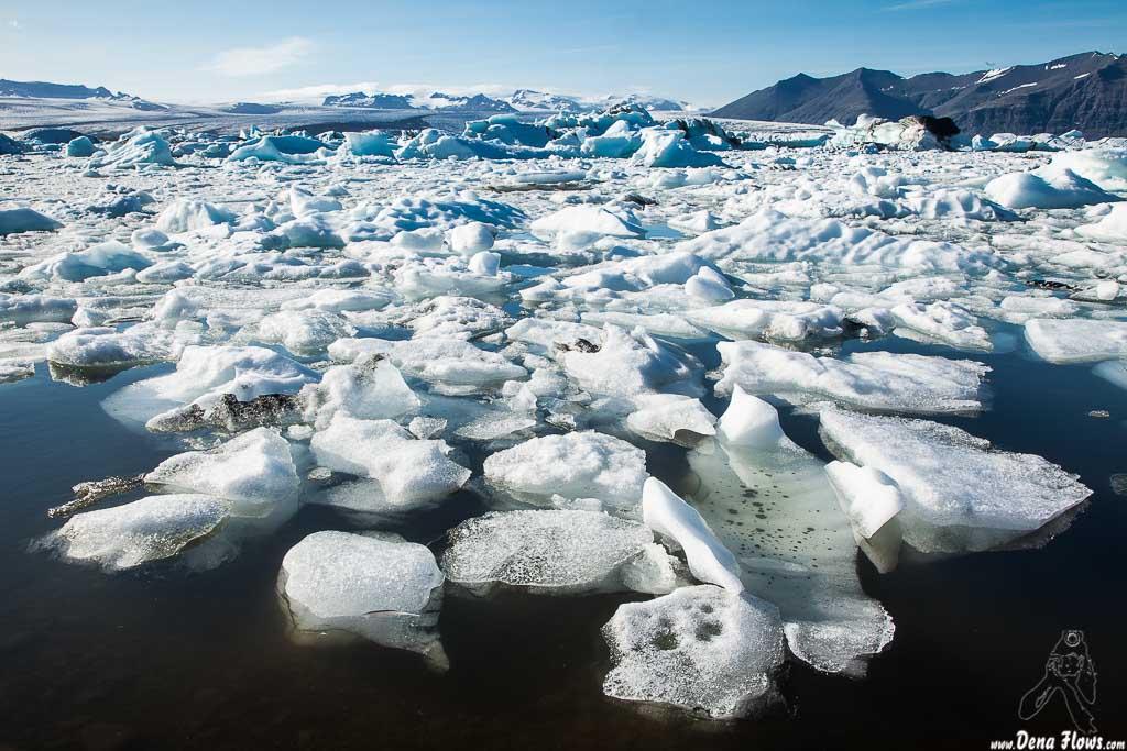 Lago glaciar Jökulsárlón, Islandia, 2014