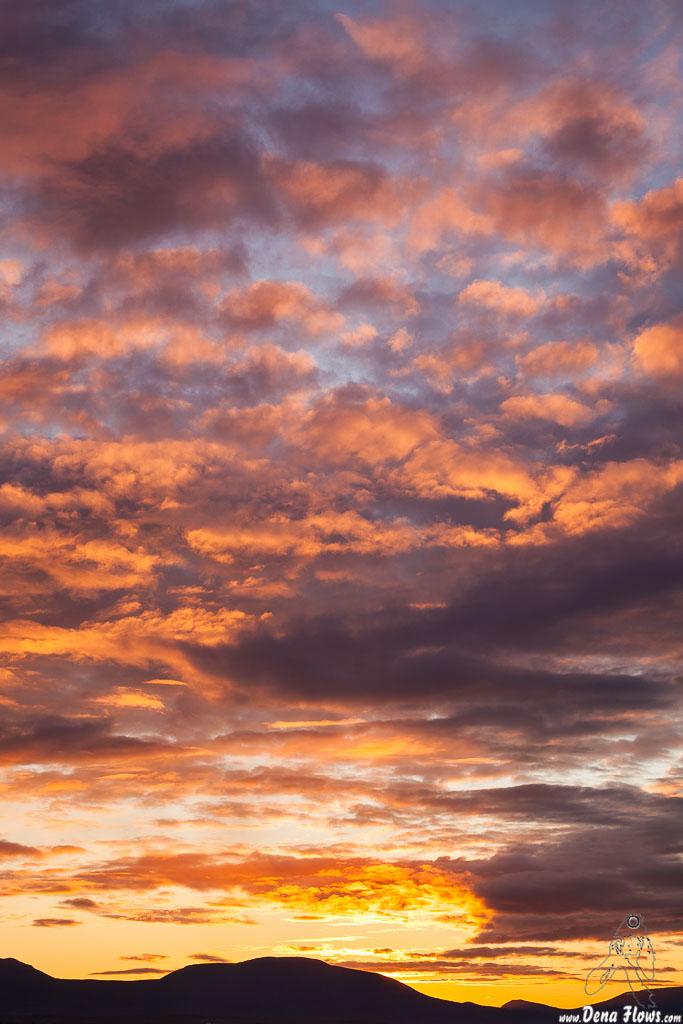 Cielo de atardecer espectacular, Islandia, 2014