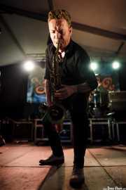 Dani Nel·lo, saxofonista de Los Mambo Jambo, Aste Nagusia - Algara Txosna. 2014