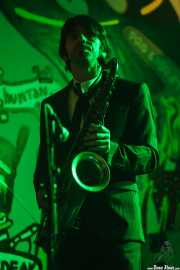 Jordi Blanch, saxofonista de The Excitements, Aste Nagusia - Algara Txosna, 2014