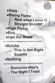 Setlist de Moon Shakers