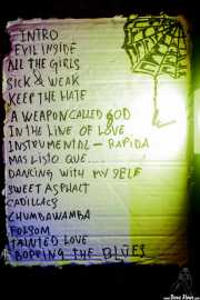 Setlist de The Weapons (24/08/2014)
