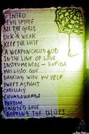 Setlist de The Weapons (24/08/2014)