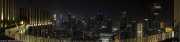 Skyline nocturno de Singapur desde el parque de la azotea de The