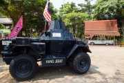 Exposición al aire libre en Taman Merdeca (vehículo blindado y Cadillac) (27/09/2014)