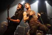 Urtzi Hammer, cantante y bajista de The Hammer Killers junto a Podri Korruptoi, cantante de Rat-zinger (17/10/2014)
