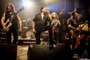 "Ross ""The Boss"" Friedman -guitarrista-, J.P. ""Thunderbolt"" Patterson -baterista-, Richard ""Handsome Dick"" Manitoba -cantante-, Dean ""The Dream"" Rispler -bajista-, y Daniel Rey -guitarrista- de The Dictators NYC (17/10/2014)"