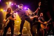 "Ross ""The Boss"" Friedman -guitarrista-, Richard ""Handsome Dick"" Manitoba -cantante-, Dean ""The Dream"" Rispler -bajista-, y Daniel Rey -guitarrista- de The Dictators NYC (18/10/2014)"