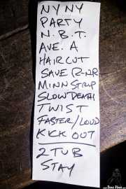 Setlist de The Dictators NYC (18/10/2014)