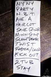 Setlist de The Dictators NYC (18/10/2014)