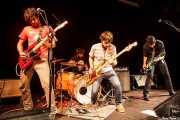 Pablo Moreno -Guitarrista-, Roberto Villar -baterista-, Sergio Gil -bajista- y Álvaro Luna -cantante y guitarrista- de Yellow Big Machine (25/10/2014)