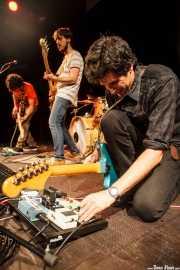 Pablo Moreno -Guitarrista-, Sergio Gil -bajista- y Álvaro Luna -cantante y guitarrista- de Yellow Big Machine (25/10/2014)