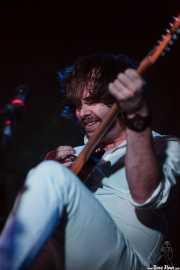 Casey Laforet, guitarrista, cantante y Bass pedal de Elliott Brood, Sala Azkena. 2014