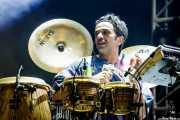 Oli Savill, percusionista de Basement Jaxx, Bilbao Exhibition Centre (BEC). 2014