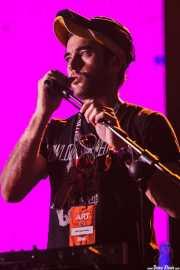 Sufjan Stevens, cantante y teclista invitado de The National, Bilbao Exhibition Centre (BEC). 2014