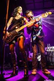 Beth-Ami Heavenstone -bajista- y Graham Bonnet -cantante y guitarrista-, Sala Stage Live (Back&Stage). 2014