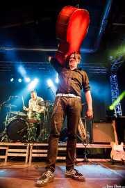 Ivan Kovacevic -contrabajista- y Anton Jarl -baterista- de Los Mambo Jambo, Purple Weekend Festival. 2014