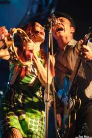 Jeanine Attaway -teclista- y Jason Gentry -bajista- de The Ugly Beats, Purple Weekend Festival. 2014
