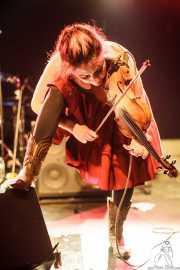 Liz Sloan, violinista y cantante de Urban Pioneers, CAEM - Sala B. 2014