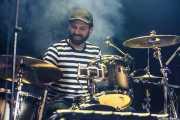 Jokin Corral, baterista y cajón de Dead Bronco, CAEM - Sala B. 2014