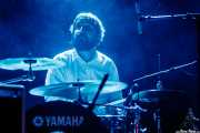 Oscar Arribas, baterista de The Dealers, Santana 27. 2014
