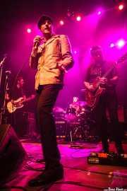 """Iñaki García """"Igu"""" -cantante y armoniscista-, Iñigo Ortiz de Zárate -guitarrista y teclista-, Danilo Foronda -bajista- y Zigor Akixo -baterista- de The Allnighters, Bilbao. 2015"""